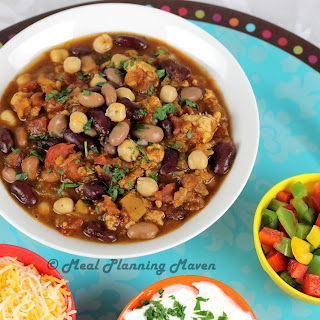 Crockpot Autumn Harvest Turkey Chili.