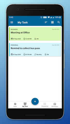 NotifyMe - Notes, Reminders and Birthdays ss2