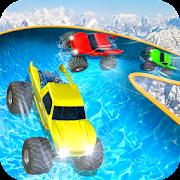Water Slide Monster Truck Race