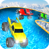 Wasserrutsche Monster Truck Race