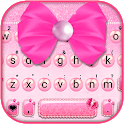 Pink Pearls Bowtie Keyboard Theme icon
