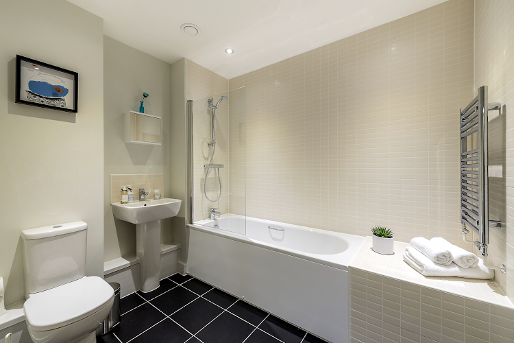 Bathroom at Colindale apartment