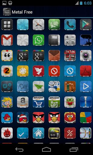 Metal Free(APEX NOVA GO THEME) 1.5.0 screenshots 5