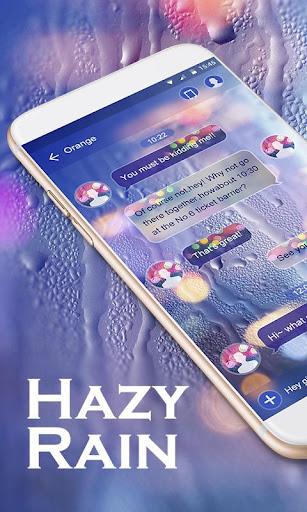 GO SMS PRO HAZY RAIN THEME