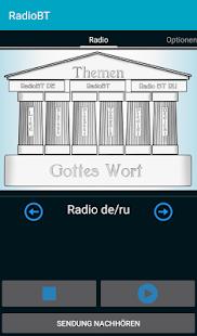 RadioBT - náhled