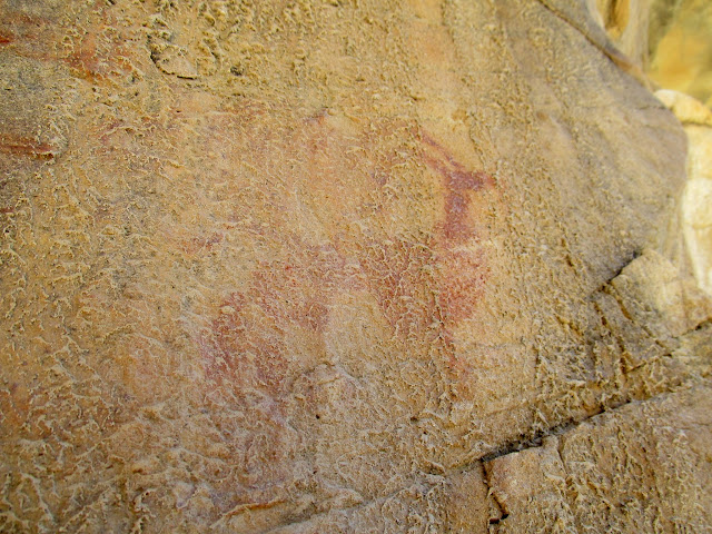 Mud-covered pictographs