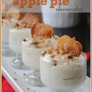 No Bake Apple Pie Cheesecakes