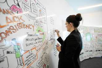 Photo: DAVOS/SWITZERLAND, 28JAN12 - A participant writes on the white board during the session 'Creative Job Creation with the Wharton School, University of Pennsylvania' at the Annual Meeting 2012 of the World Economic Forum at the congress centre in Davos, Switzerland, January 28, 2012.Copyright by World Economic Forumswiss-image.ch/Photo by Sebastian Derungs