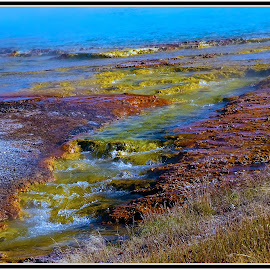 Yellowstone NP#4 by Morris Kleyman - Landscapes Caves & Formations ( colors, places, composition..., formation,  )