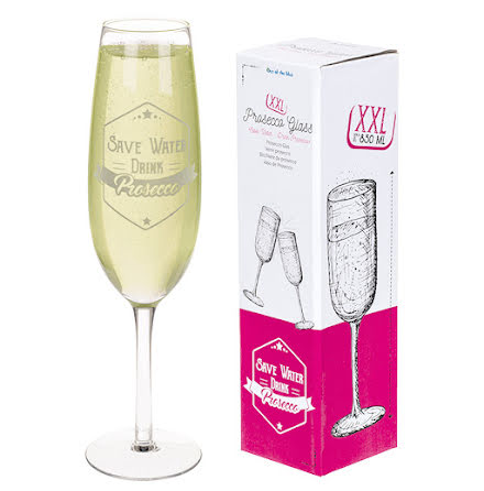 Champagneglas, Save water - drink Prosecco 850 ml 35 cm