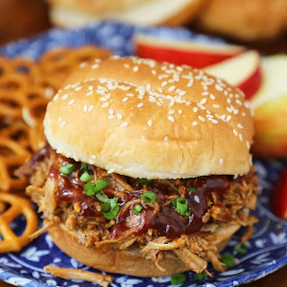 Slow Cooker Apple Cider BBQ Pulled Pork.