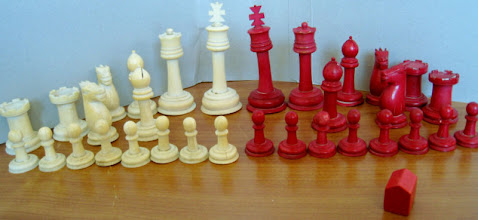 Photo: A 3.75in King set (not owned) seen on eBay May 2011.  The 'nature'of the red house-like piece in the front is unknown!   .....ctd on next image, where the reason for including this set here will become apparent.....