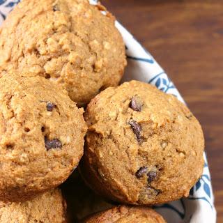 One Bowl Chocolate Chip Pumpkin Muffins