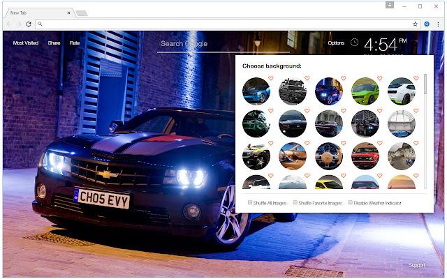 Chevrolet camaro wallpaper hd cars themes chrome web store - Chrome web store wallpaper ...
