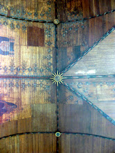 Photo: Original wooden ceiling in the Oude Kerk. Some lost patches, some restored, etc.