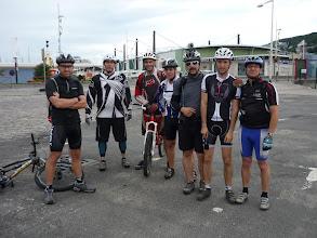 Photo: La joyeuse bande au départ, Lucos, Camoulaurent, Tibuik, Greg, Liebher, Hervé et Steph