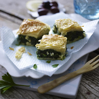 Spanakopita - Spinach and Feta Phyllo Pie.