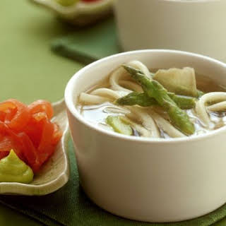 Noodle Soup with Asparagus.