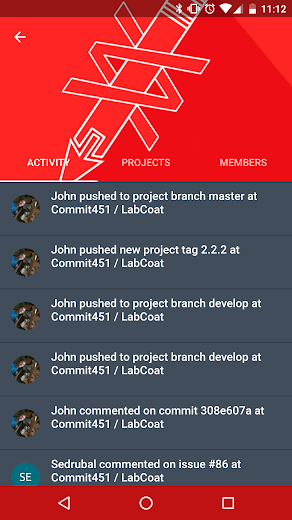 Screenshot 3 for GitLab's Android app'
