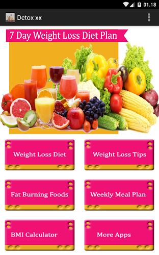 Download 7 day Detox diet plan APK latest version App by PRONDROID