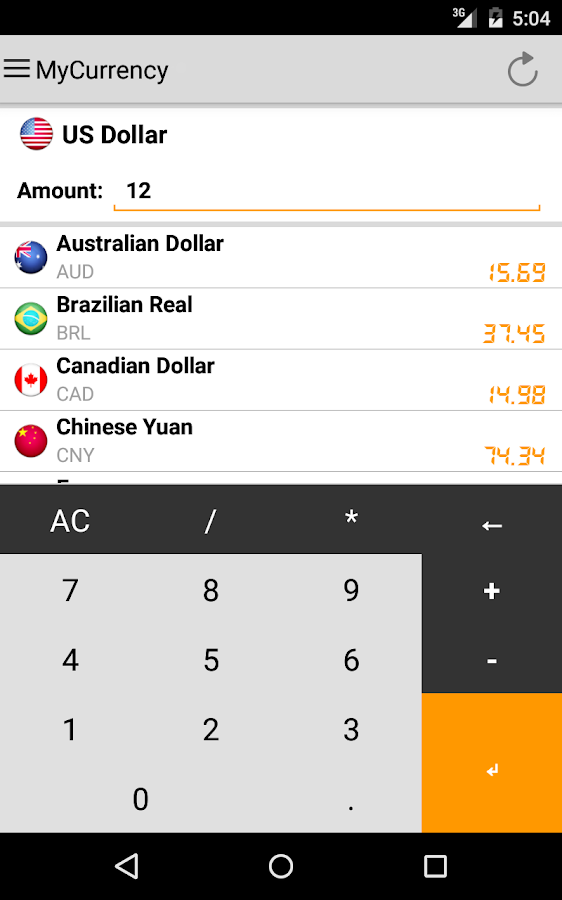 My Currency - Converter - screenshot