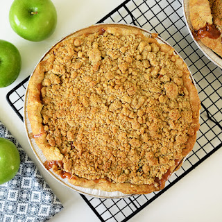 Apple Crumble Pie.