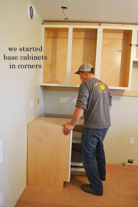 Installing kitchen cabinets momplex vanilla kitchen ana white woodworking projects