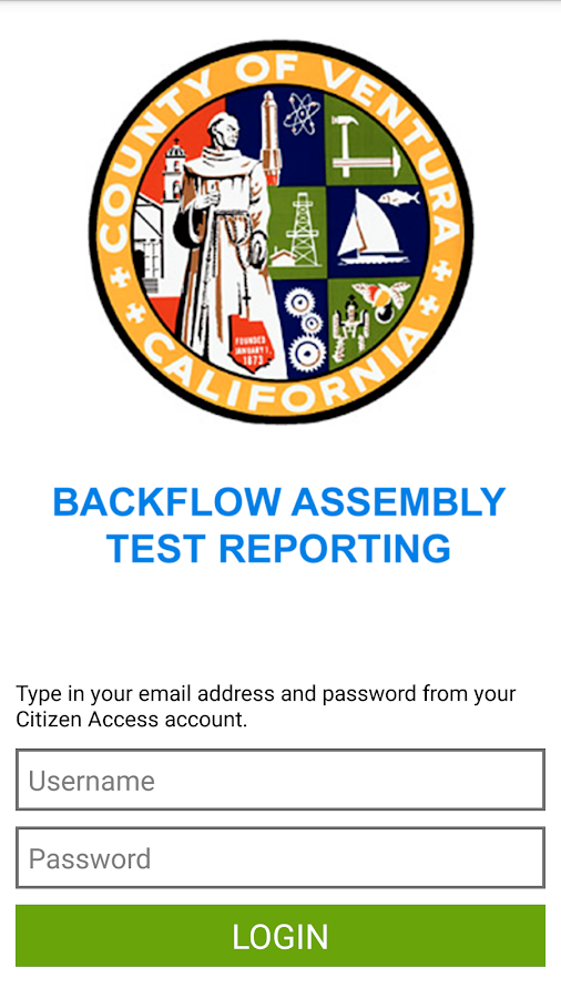 Ventura County Backflow Test- screenshot
