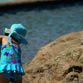 At Play by Luciana Popa - Babies & Children Children Candids ( #pic, #kidsphotography, #rockpool, #rock, #beach, #kid, #kids, #water )