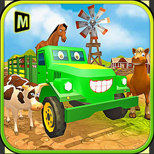 模拟の輸送トラックの運転手:動物 LOGO-HotApp4Game