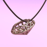 Wireframe diamond (Oval brilliant cut)