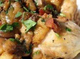 Chicken With Bacon/mushroom Sauce Recipe