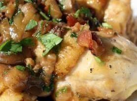 Chicken With Bacon/mushroom Sauce