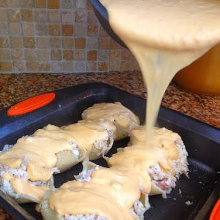Cheesy Chicken Stuffed Shells.