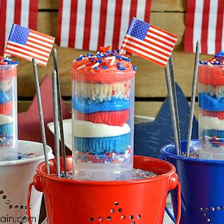 Mini Firecracker Cupcakes