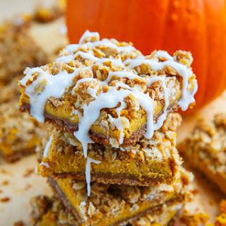 Pumpkin Cheesecake Gingersnap Streusel Bars
