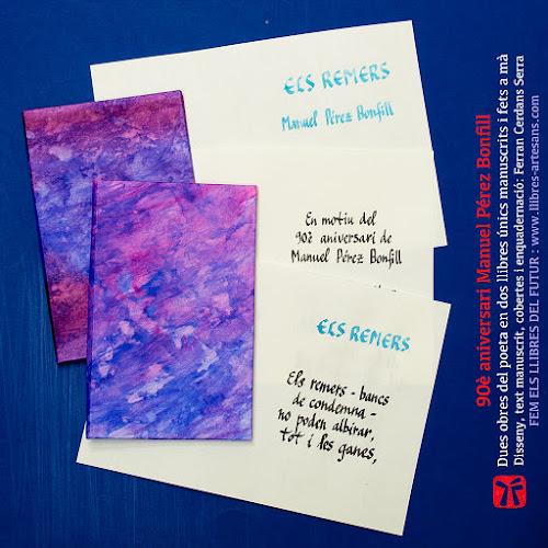 Llibres manuscrits amb poemes de Manuel Pérez Bonfill