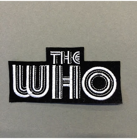 The Who - Svart/Vit Logo - Tygmärke