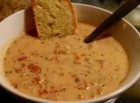 Slower Cooker Tomato Basil Parmesan Soup