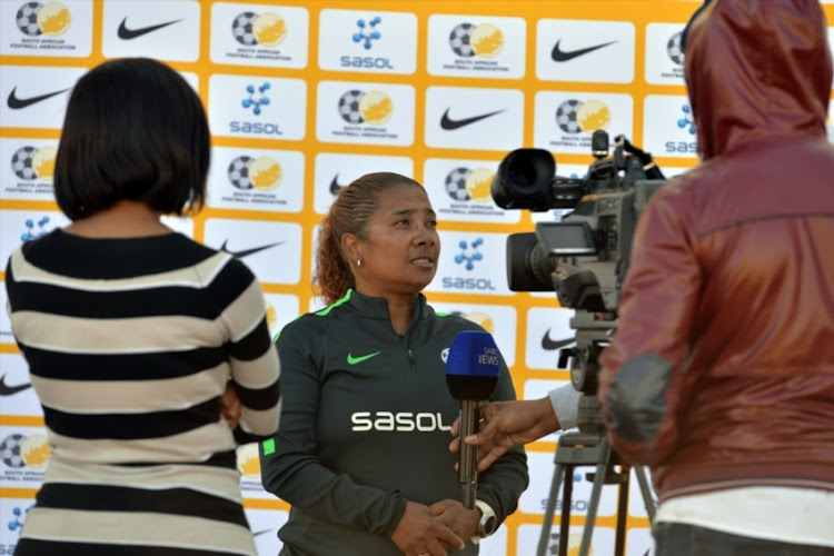 South African National Womens soccer coach Desree Elis during the South African national womans soccer team media open day at University of Johannesburg, Bunting Road Campus on May 31, 2017 in Johannesburg.