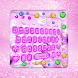 Pink Diamond Heart Gravity Keyboard Theme