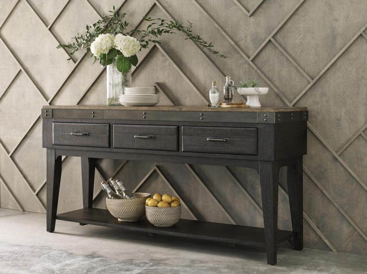 Rustic Sideboard with Decor
