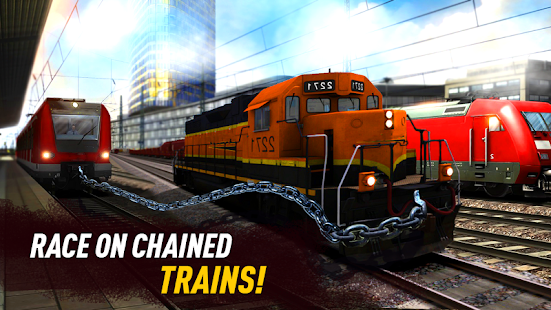 Chained Trains Racing: Stunt driving simulator - náhled