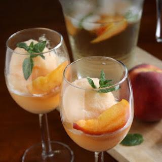 Peach Sangria Sorbet.