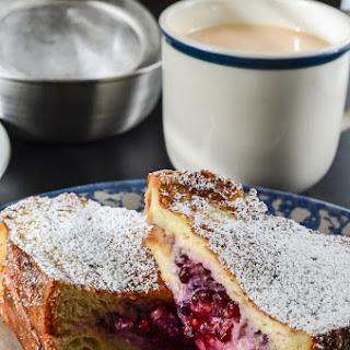 Blackberry Almond Mascarpone Stuffed French Toast #SundaySupper