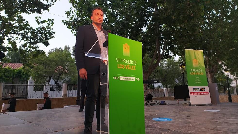 José Torregrosa, alcalde de Chirivel, cierra la gala de premios con su intervención.