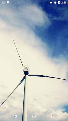 風力発電ライブ壁紙