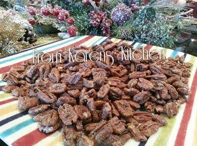 Roasted Candied Pecans Recipe