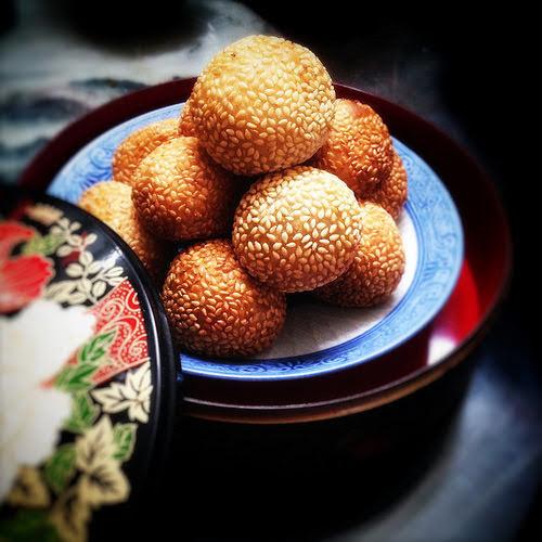 chinese, Jian Dui, Matuan, recipe, Sesame Ball, sesame puff, sesame seed ball, 煎堆, 煎䭔, 麻糰