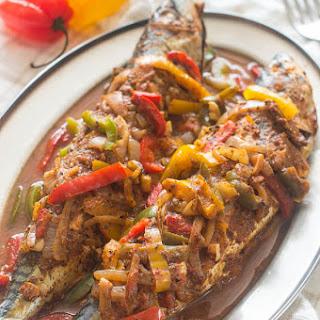 Caribbean Style Stewed Mackerel.